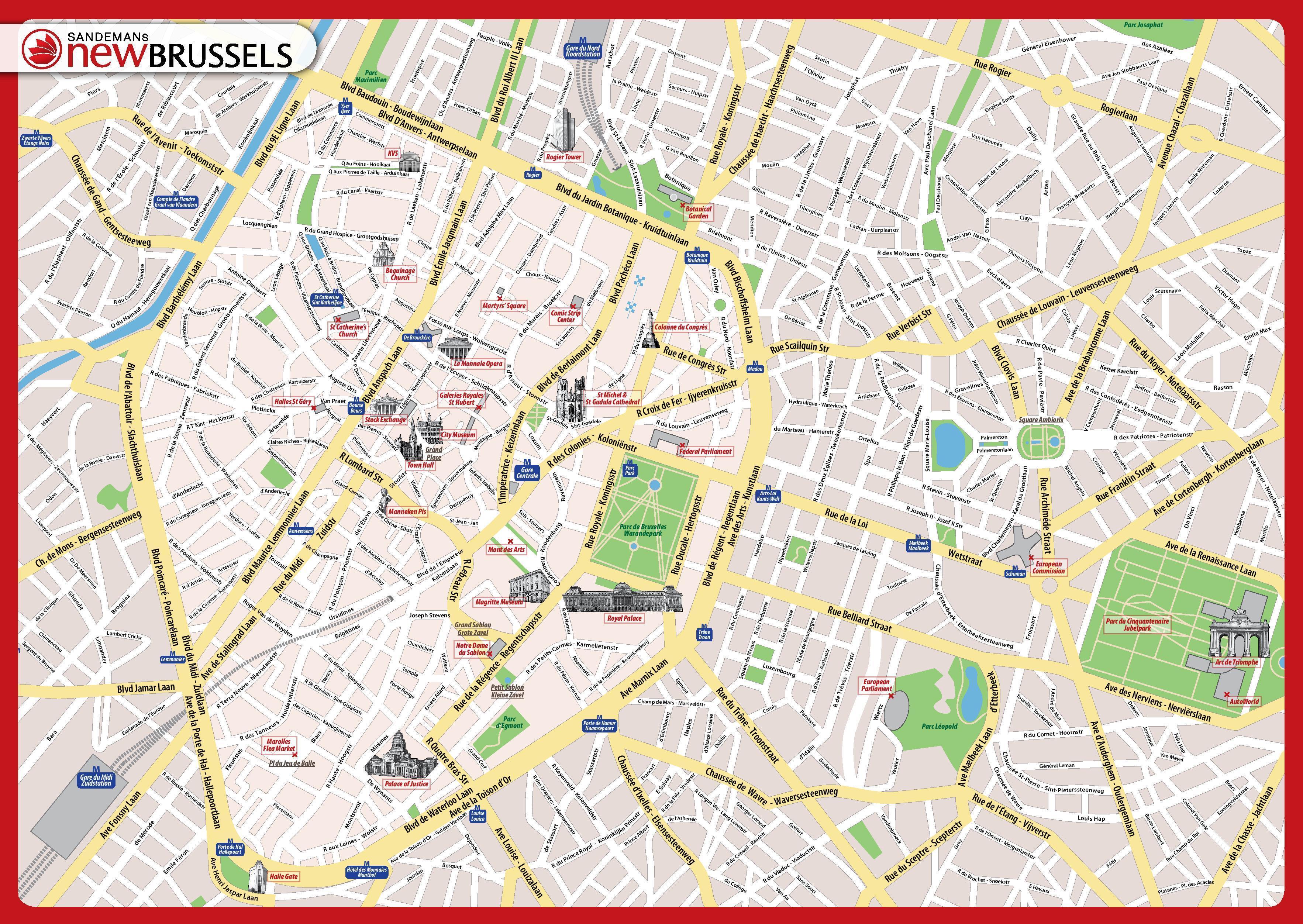 Brüssel map download - Brussels map pdf-download (Belgien)
