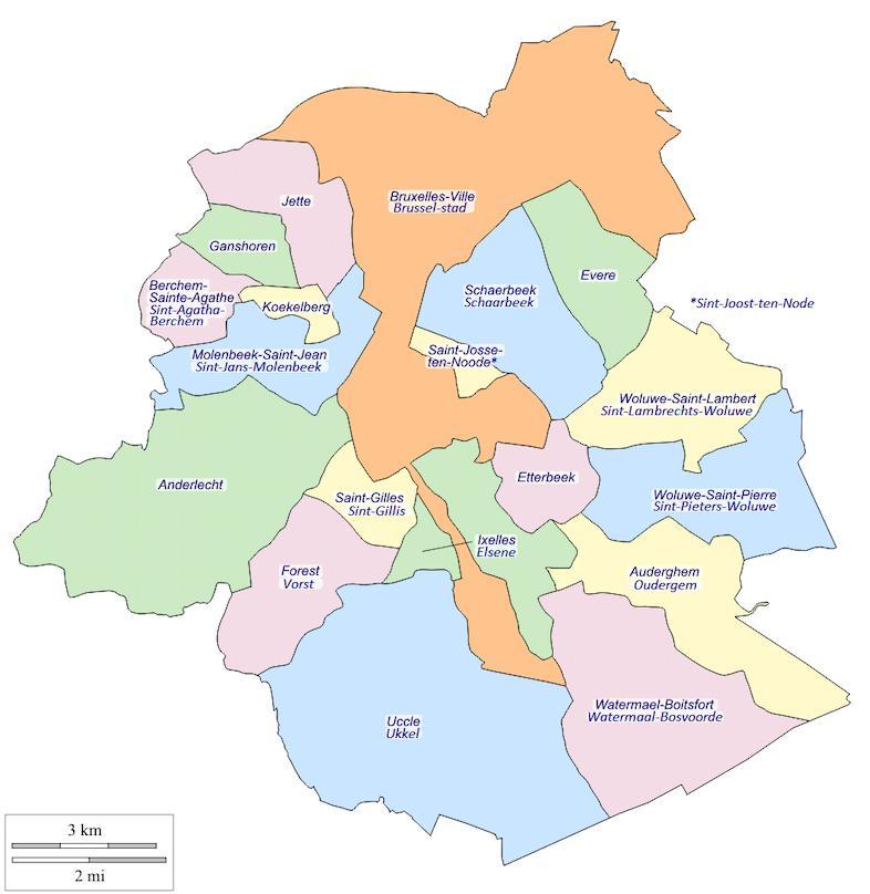 Die region Brsselmap Karte der region Bruxelles Belgien