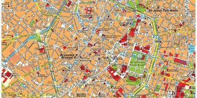 Brüssel anzeigen - Maps-Brüssel (Belgien)