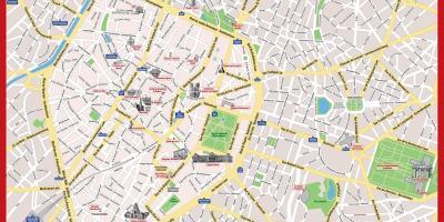 Brüssel Sehenswürdigkeiten Karte.Brüssel Anzeigen Maps Brüssel Belgien
